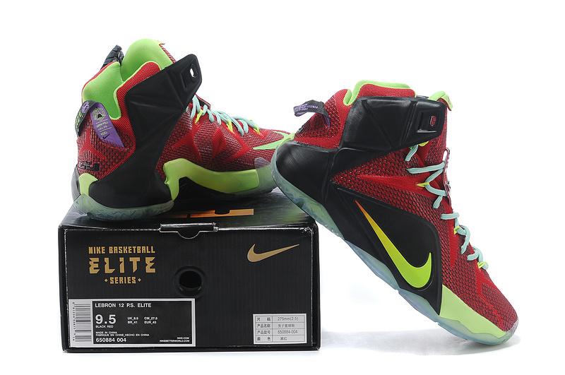 best service 017c3 86a9e ... mens shoes 732bc e92f5  release date cheap lebron 12 p.s elite red green  black 0aee8 416b6