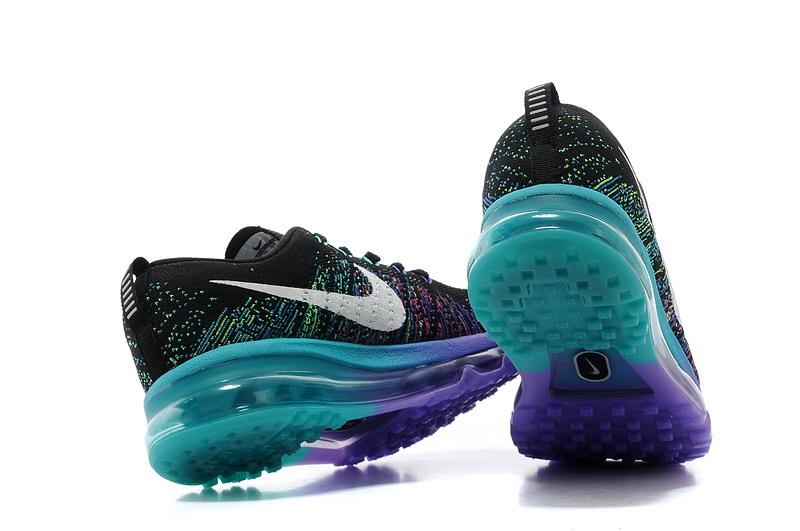 brand new 0d557 42f58 ... spain nike flyknit air max rainbow purple black women a8b94 9d38c