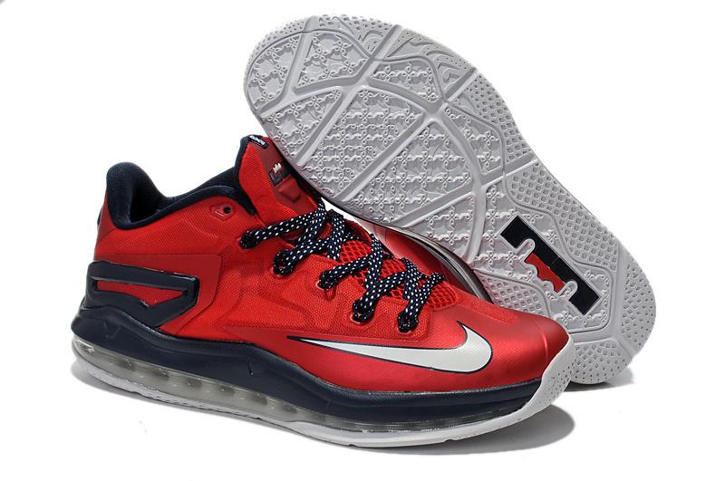 low priced ba906 9fb10 Nike Lebron 11 xi Low Red Black White